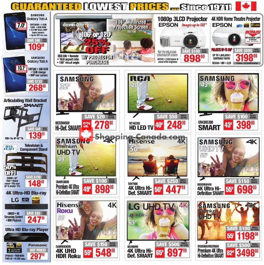 Flyer 2001 Audio Video Canada - from Friday July 12, 2019 to Thursday July 18, 2019