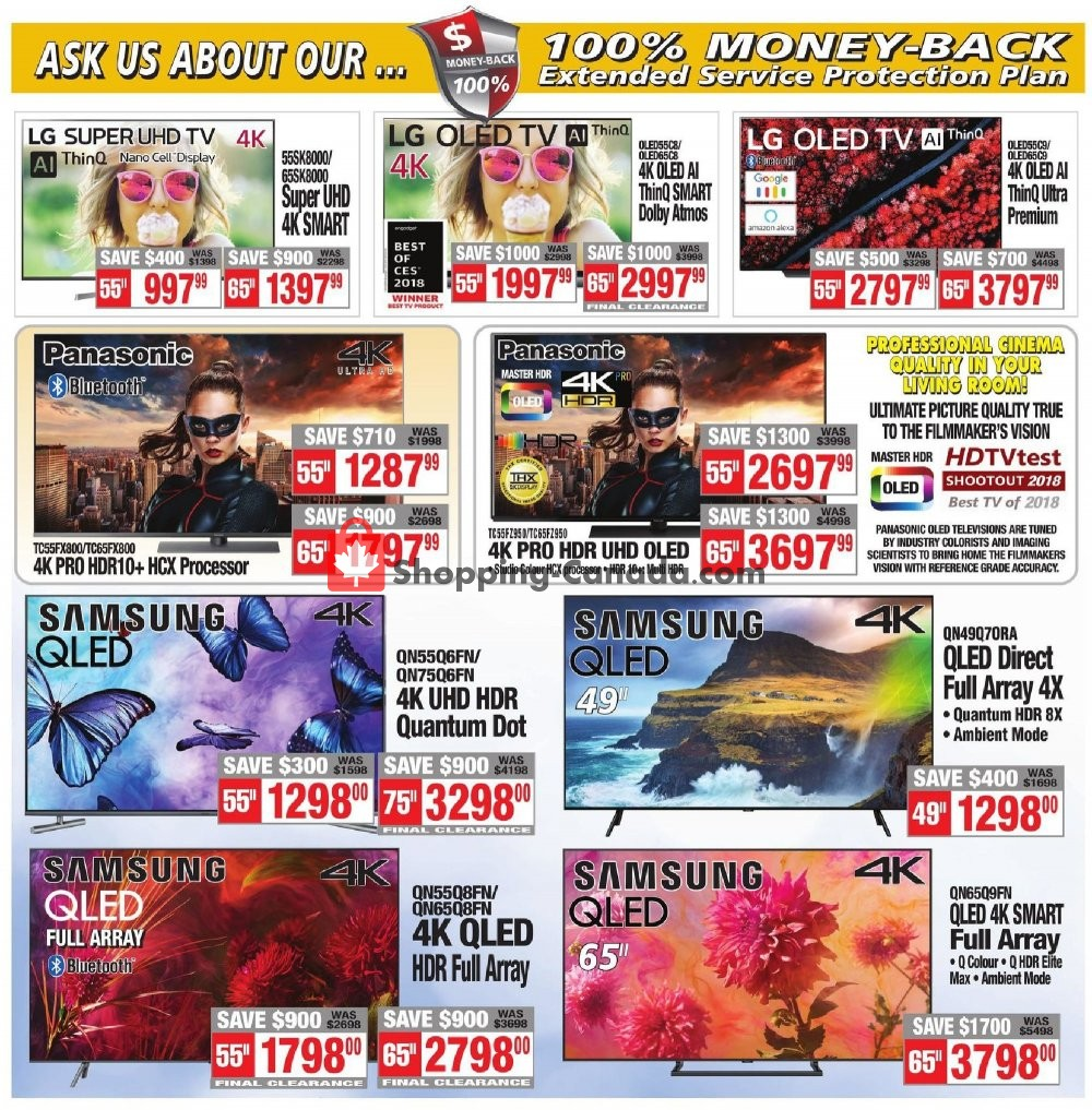 Flyer 2001 Audio Video Canada - from Friday July 19, 2019 to Thursday July 25, 2019