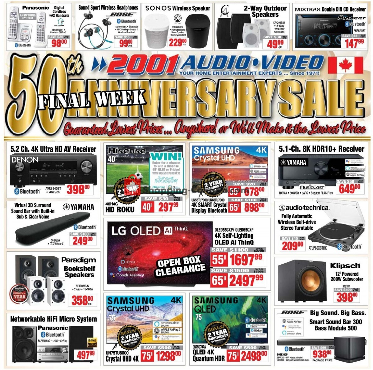 Flyer 2001 Audio Video Canada - from Friday June 4, 2021 to Thursday June 10, 2021