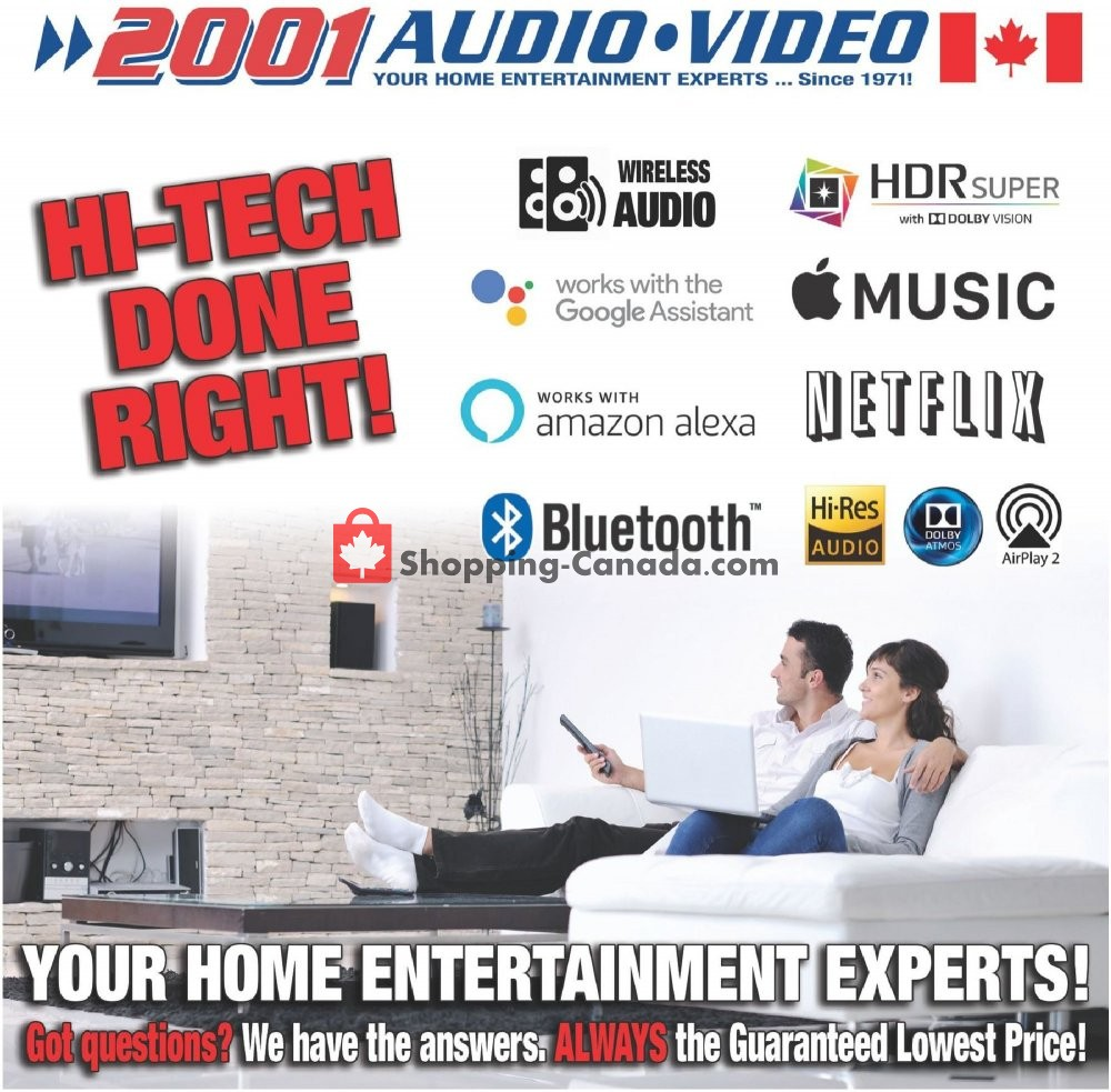 Flyer 2001 Audio Video Canada - from Friday May 29, 2020 to Thursday June 11, 2020