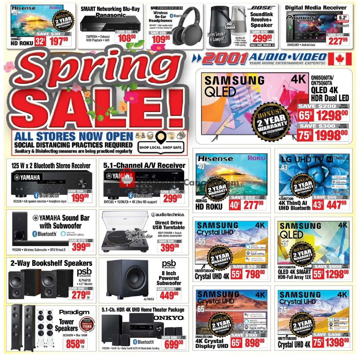 Flyer 2001 Audio Video Canada - from Friday March 26, 2021 to Thursday April 1, 2021