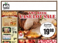 AG Foods (Two Week Case Lot Sale - Barriere - BC) Flyer