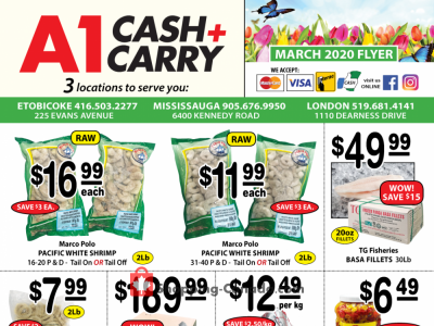 A1 Cash And Carry Outdated Flyer Thumbnail