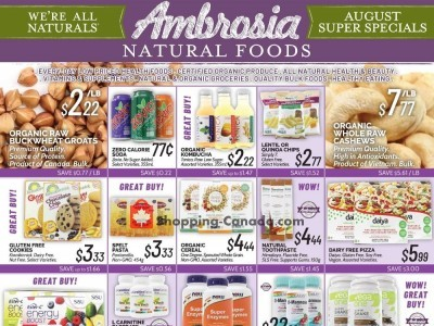 Ambrosia Natural Foods Outdated Flyer Thumbnail