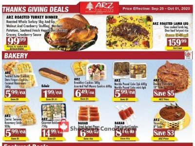 Arz Fine Foods Outdated Flyer Thumbnail