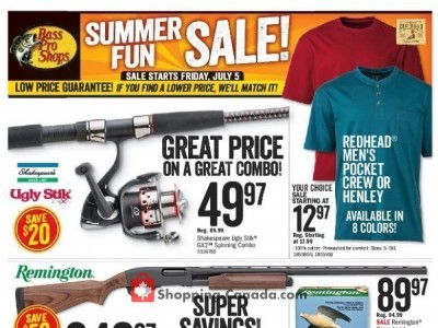 Bass Pro Shops Flyers, Weekly ads in Canada | Shopping Canada
