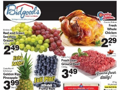 Bidgood's Supermarket Outdated Flyer Thumbnail