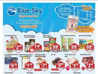 Blue Sky Supermarket Flyer Thumbnail