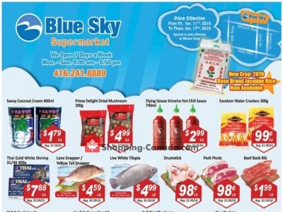 Blue Sky Supermarket Outdated Flyer Thumbnail