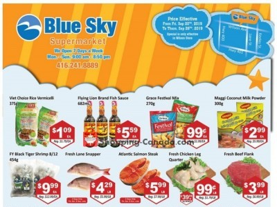 Blue Sky Supermarket Flyer Thumbnail