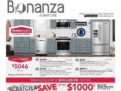 Bonanza Furniture Outdated Flyer Thumbnail