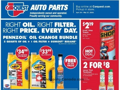 Carquest professionals Outdated Flyer Thumbnail