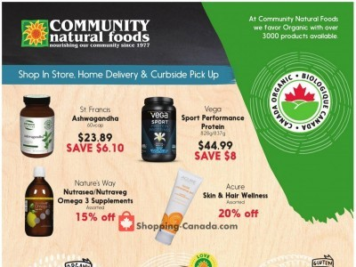 Community Natural Foods Outdated Flyer Thumbnail