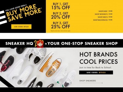 DSW Designer Shoe Warehouse Outdated Flyer Thumbnail