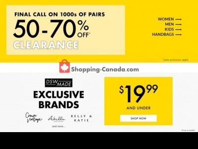 DSW Designer Shoe Warehouse Flyer Thumbnail