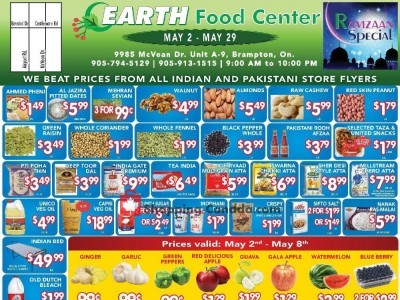 Earth Food Center Outdated Flyer Thumbnail