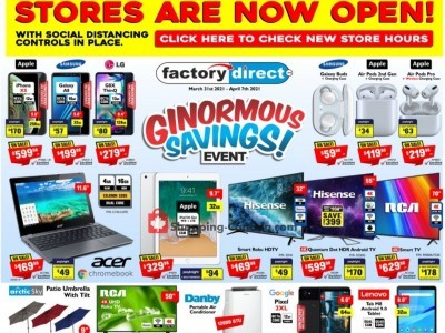 Factorydirect.ca Outdated Flyer Thumbnail