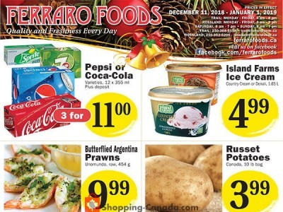 Ferraro Foods Outdated Flyer Thumbnail