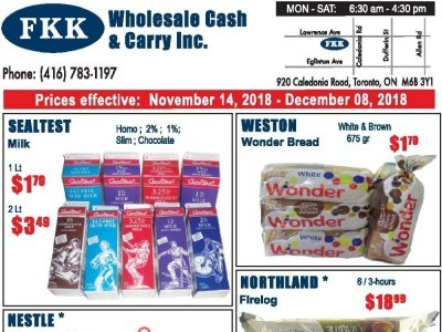 FKK Wholesale Cash & Carry Outdated Flyer Thumbnail
