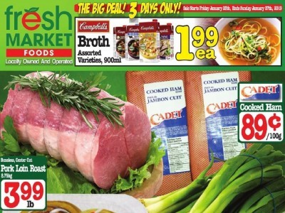 Fresh Market Foods Outdated Flyer Thumbnail