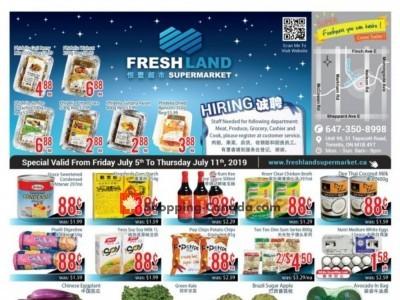 FreshLand Supermarket Outdated Flyer Thumbnail