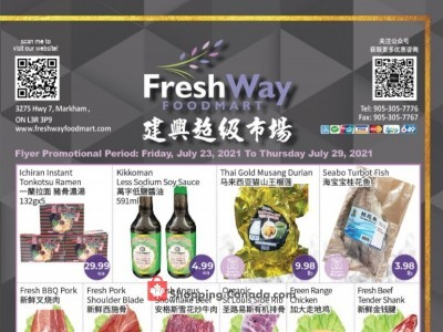 FreshWay Foodmart Outdated Flyer Thumbnail