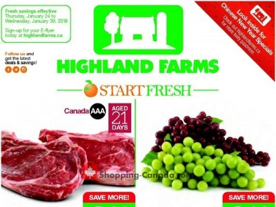 Highland Farms Outdated Flyer Thumbnail