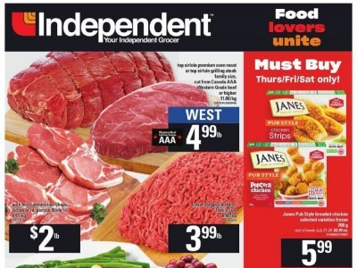 Independent Grocers Flyer Thumbnail