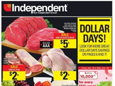 Independent Grocers Outdated Flyer Thumbnail