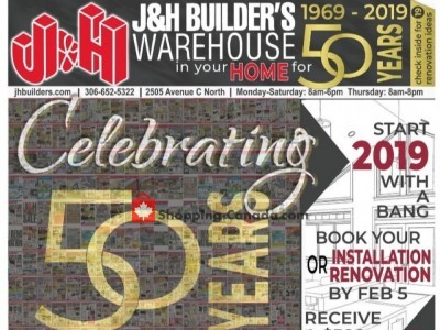 J&H Builder's Warehouse Flyer Thumbnail