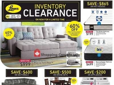 Leon's Furniture Flyer Thumbnail
