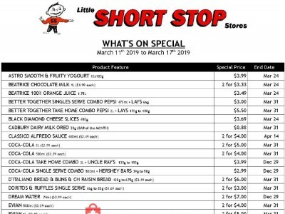 Little Short Stop Stores Outdated Flyer Thumbnail