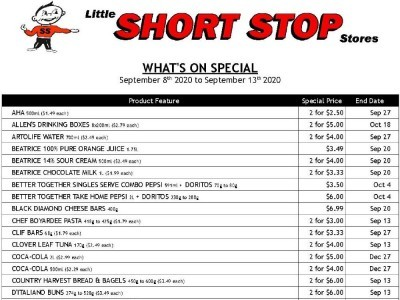 Little Short Stop Stores Flyer Thumbnail