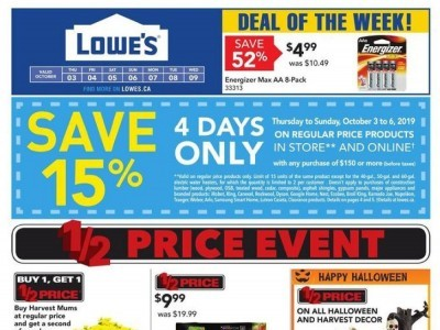 Lowe's Outdated Flyer Thumbnail