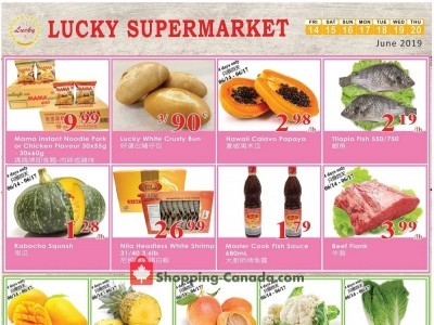 Lucky Supermarket Outdated Flyer Thumbnail