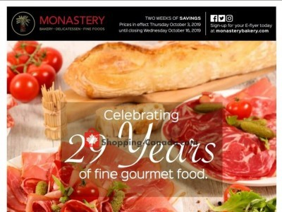 Monastery Bakery Outdated Flyer Thumbnail