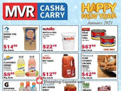 MVR Cash & Carry Flyer Thumbnail