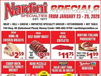 Nardini Specialties Outdated Flyer Thumbnail