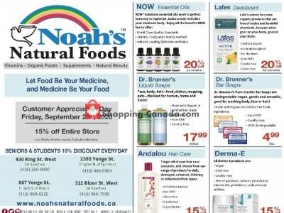 Noah's Natural Foods Flyer Thumbnail