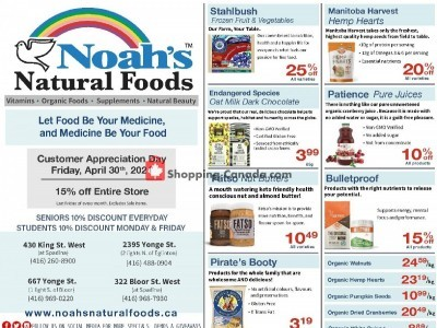Noah's Natural Foods Outdated Flyer Thumbnail