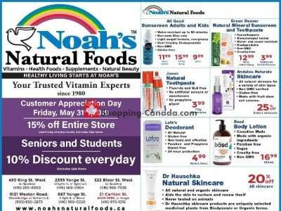 Noah's Natural Foods Flyer Thumbnail