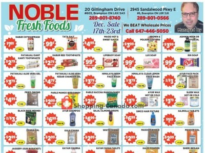 Noble Fresh Foods Outdated Flyer Thumbnail