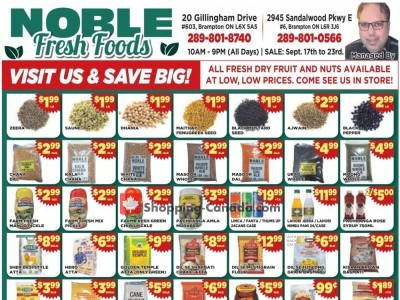 Noble Fresh Foods Flyer Thumbnail
