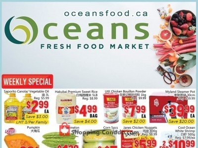 Oceans Fresh Food Market Flyer Thumbnail