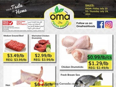 Oma fresh foods Outdated Flyer Thumbnail