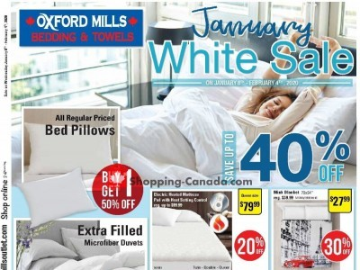 Oxford Mills Bedding & Towels Outdated Flyer Thumbnail