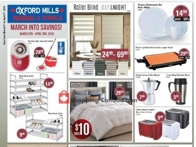 Oxford Mills Bedding & Towels Flyer Thumbnail