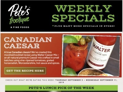 Pete's Fine Foods Outdated Flyer Thumbnail