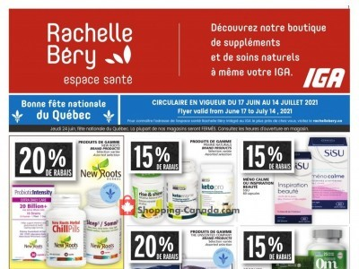 Rachelle Béry Outdated Flyer Thumbnail