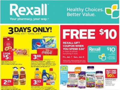 Rexall Drug Store Outdated Flyer Thumbnail